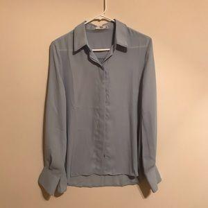 Mango light blue blouse